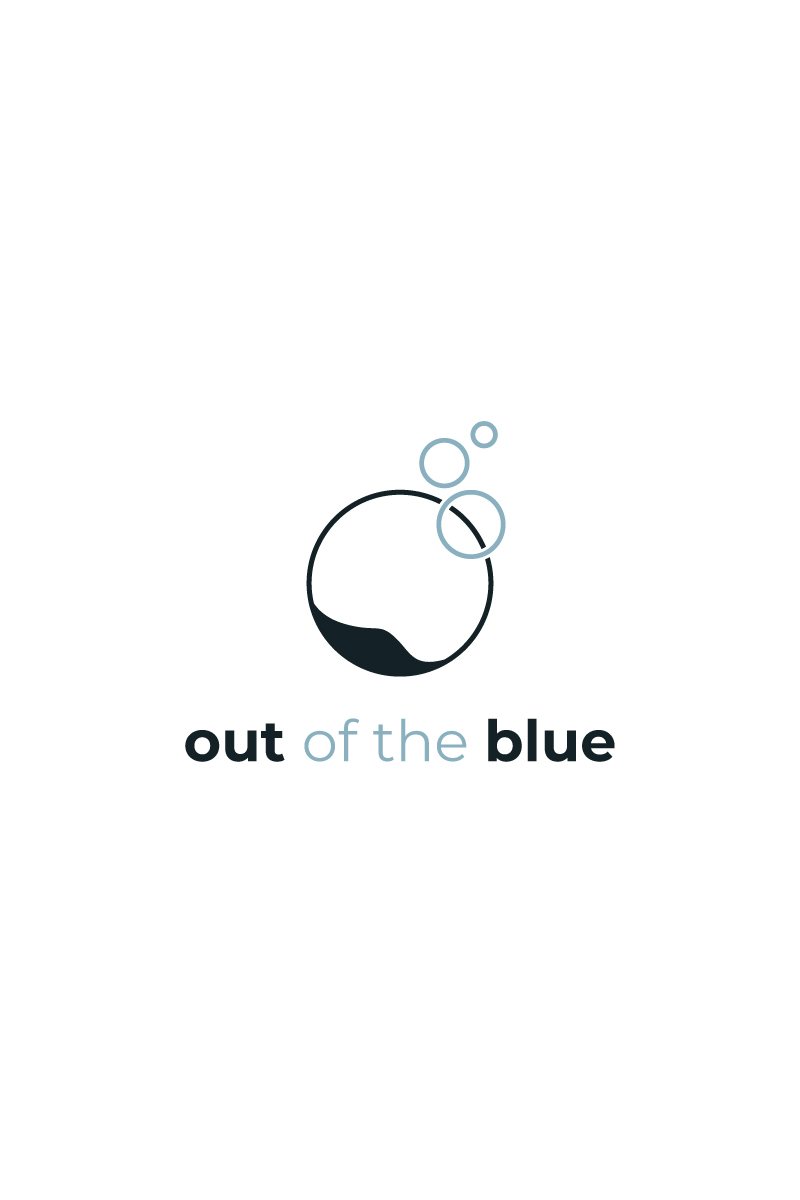 Out of the blue logo design
